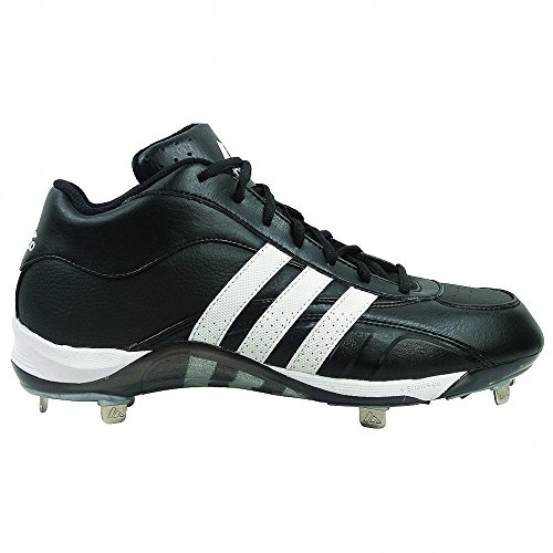 Adidas Excelsior 5 Mid Metal Baseball Cleats Black / Running Blanco / Plata Metálica