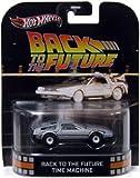Hot Wheels Retro Back to the Future 1:55 Die Cast Car DeLorean Time Machine