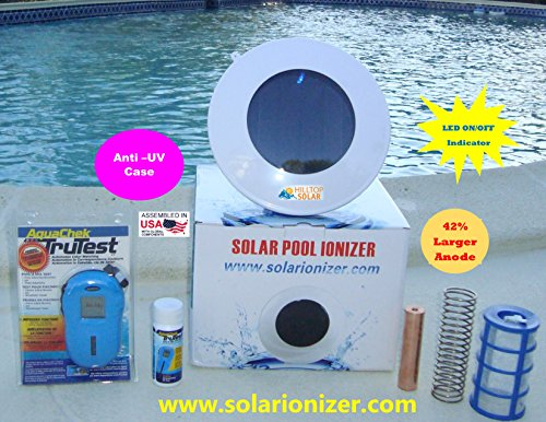 Solar Ionizer with Ionizaton LED ( EXCLUSIVE FEATURE) - Kills Algae and Bacteria - Includes Digital Water Tester - FAST SHIPPING!! - Exclusive Water