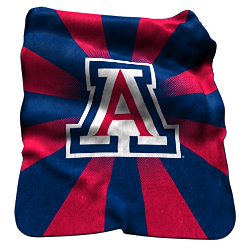 Logo Brands NCAA Arizona Wildcats Raschel Throw Blanket