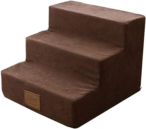 Escalera de Mascota Escaleras para Perros livianas para sofá, peldaños/ escaleras para Perros pequeños y Gatos para Camas Altas, Funda con Cremallera extraíble Lavable (Color : Coffee Color): Amazon.es: Hogar