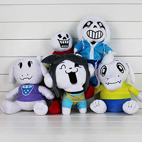 YOYOTOY 5Pcs/Lot 20-37Cm Undertale Asriel Toriel Temmie Undyne Stuffed Doll Plush Figure Toy Must Haves for Kids Favourite Movie Superhero Toys One Collection by YOYOTOY