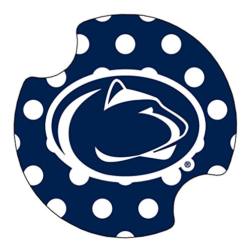 (Thirstystone Penn State University Dots Car Cup Holder Coaster, 2-Pack)