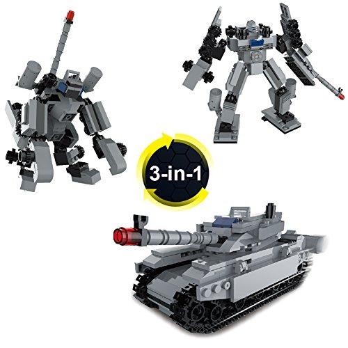 Freebex Military ConstructionVehicles Building Block Bricks Toys Kits SetFor Toddler play& tummy time(Compatible LEGO)