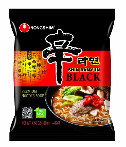 NongShim Shin Ramyun Noodle Soup, Black, 4.58 Ounce (Pack of 24)