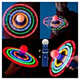 Planetary Spinning Galaxy Atom LED Light Ball Toy Spinner Wand Rave Autism Awareness