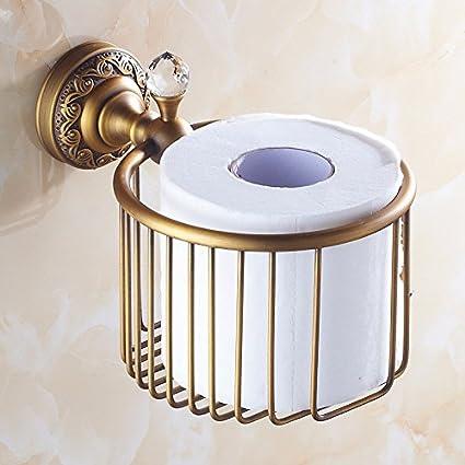 RY Cobre antiguo Papel Cestas toallero cosmético cesta Toallitas de papel WC estanterías y más