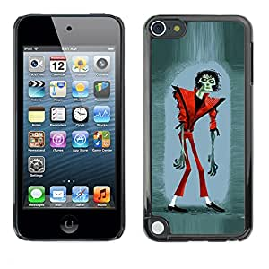 Planetar® ( Zombie Jackson Halloween Funny Thriller ) Apple iPod Touch 5 Fundas Cover Cubre Hard Case Cover