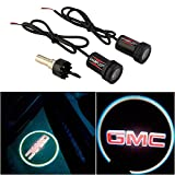 CHAMPLED® For GMC Laser Projector Logo Illuminated Emblem Under Door Step courtesy Light Lighting symbol sign badge LED Glow Car Auto Performance Tuning Accessory