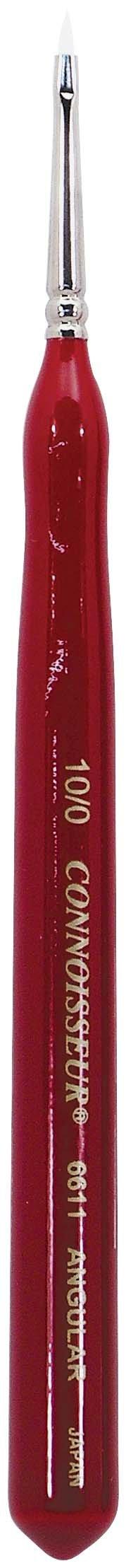 Connoisseur White Taklon Mini Detail Brush, #10/0 Angular