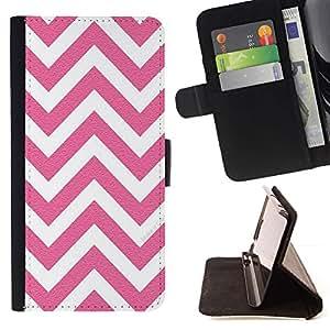 For Samsung Galaxy Core Prime / SM-G360 Case , Blanco Rosa Patrón minimalista- la tarjeta de Crédito Slots PU Funda de cuero Monedero caso cubierta de piel