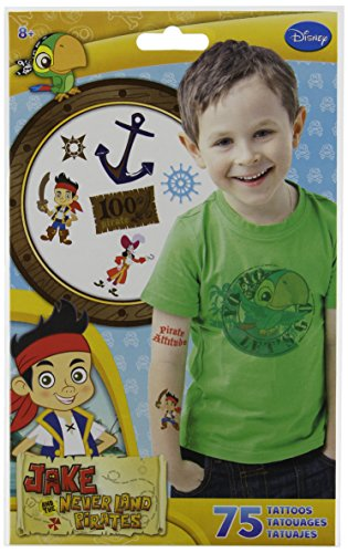 Jake and the Neverland Pirates Temporary Tattoos 75 ct ()