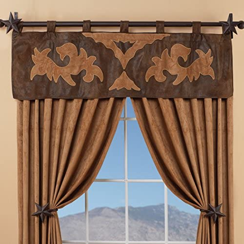 Carstens Western Boot Scroll Tan Valance