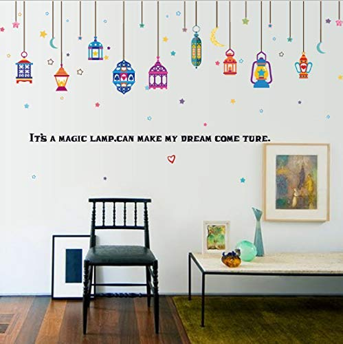 Drooping Moon Star Lamp Quote Diy Dormitorio Extraíble ...