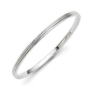 4mm Stainless Steel Polished Slip On Bangle Bracelet