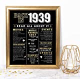 Katie Doodle 80th Birthday Decorations Party Supplies Gifts for Women or Men - Includes 8x10 Back-in-1939 Sign [Unframed], BD080: more info