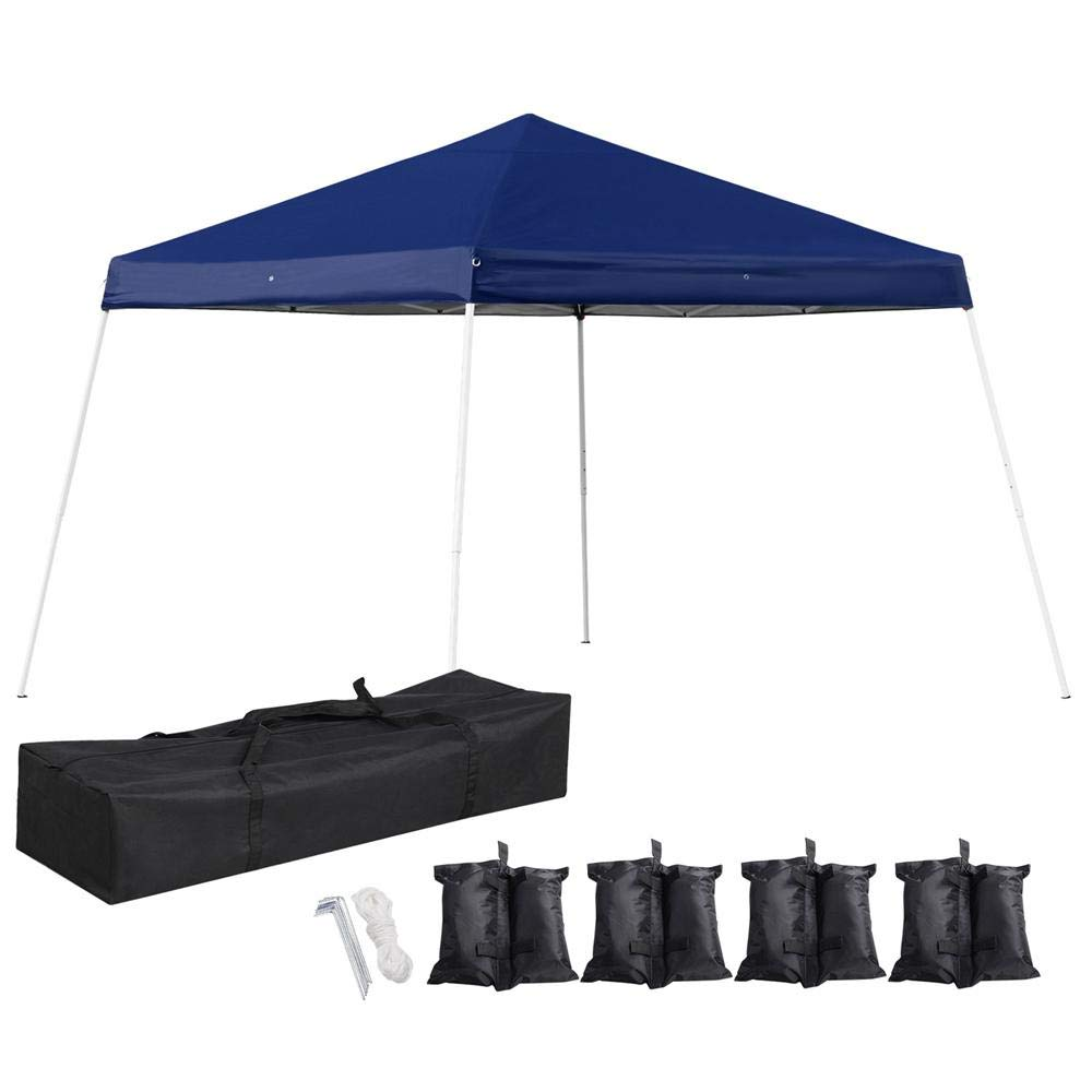 Yaheetech Heavy Duty Pop UP Canopy 12 x 12 Outdoor Portable Folding Canopy  Wedding Party Tent Waterproof with 4 Sandbags & Carry Bag for