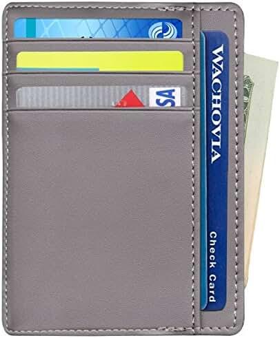 Mens Slim Wallets Minimalist Card Holder Mini Front Pocket Wallet RFID Blocking