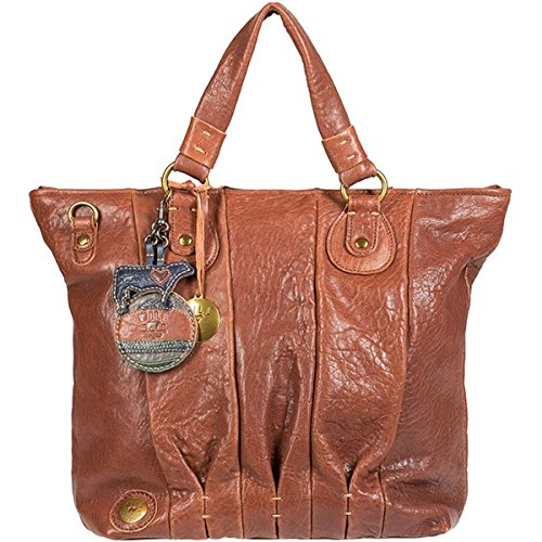 Will Leather Goods Her Top Zip Satchel - Women's Cognac, One Size by Will Leather Goods