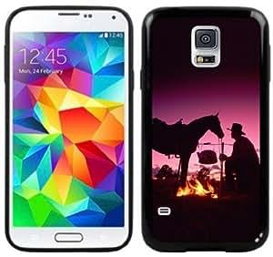 Cowboy Horse Western Handmade Samsung Galaxy S5 Black Case