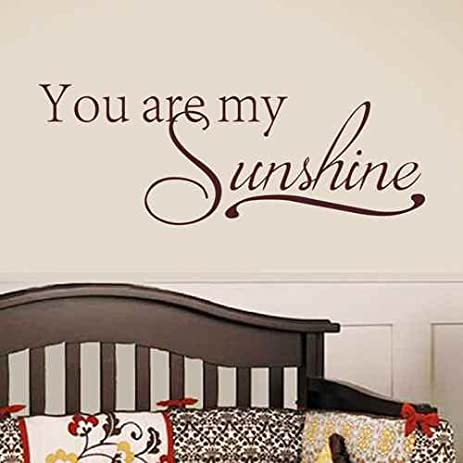 Baby Room Wall Decal You Are My Sunshine   Baby Nursery Wall Decor Vinyl  Decal Quote