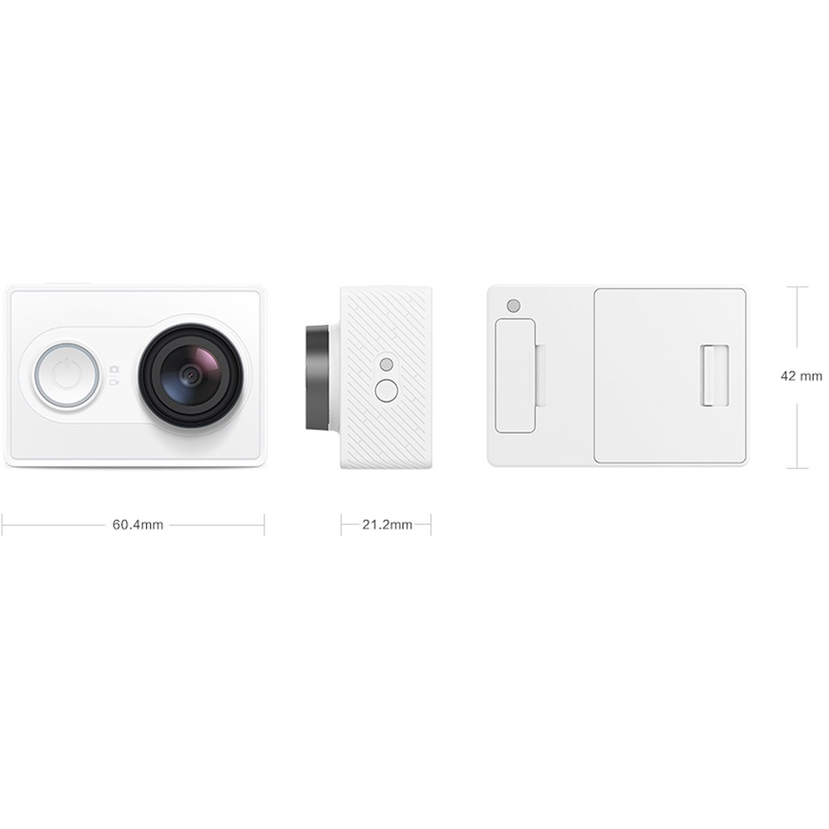 Xiaoyi Yi Action Camera With Wi Fi White Kingma Paket Complete Battery Charger Set For Xiaomi 4k Plus Lite International Version Photo