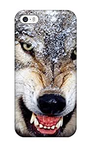Durable Protector Case Cover With Wolf Animal Wolf Hot Design For Iphone 5/5s