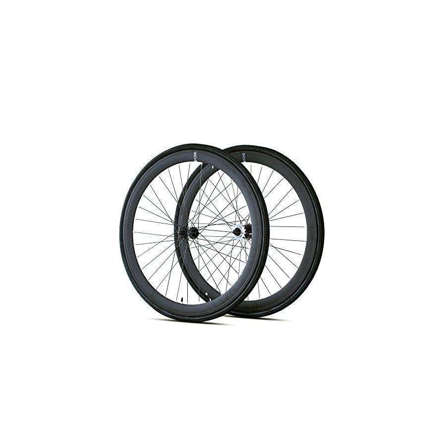 6KU 700C Deep V Alloy Fixed Gear Wheelset
