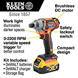 Klein Tools BAT20CD1 1/4-Inch 20V Battery-Operated