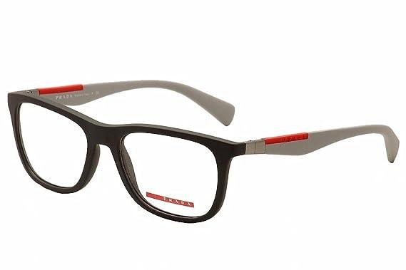Prada PS04FV Eyeglass Frames TFZ1O1-53 - Grey Rubber at Amazon Men\'s ...