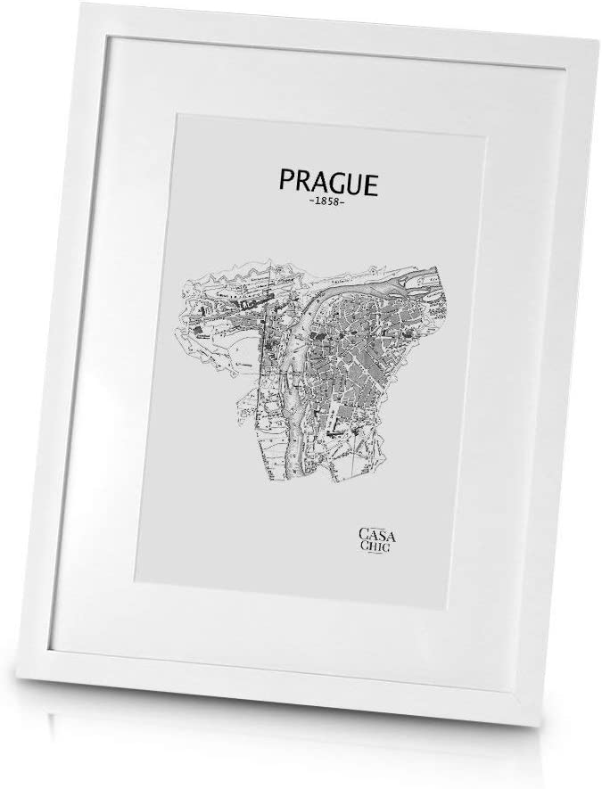 Classic By Casa Chic Solid Wood 12x16 Inch 30x40 Cm Photo Frame White Mount For 8x12 Inch 20x30 Cm Picture Perspex Front Amazon Co Uk Kitchen Home