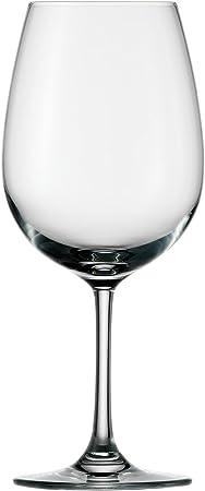 Rojo de vidrio de vino en forma elegante atemporal con mango kürzerem, para larga y rotura.,Burdeos