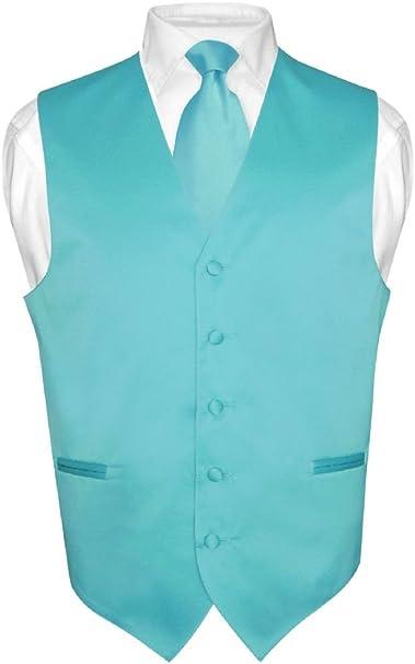 Los hombres del vestido chaleco y pañuelo de color turquesa Aqua ...