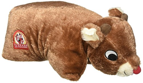 (Rudolph Pillow Pet Plush - Rudolph the Red Nosed Reindeer 50th Anniversary by Dan Dee)