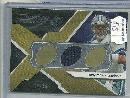 (2008 SPX Football Tony Romo Jersey Card Serial # 16/39)