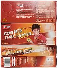 DHS 3-Star 40mm 40Pack Table Tennis Balls PingPong Balls,World-Class Ball Expert International Standard Consti
