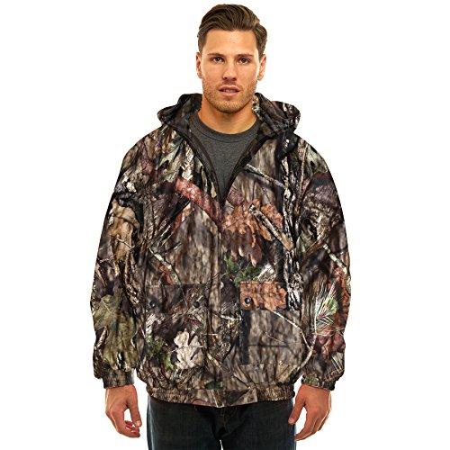 - Trailcrest Men's Insulated & Waterproof Hunters Tanker Jacket, Mossy Oak Camo Patterns, Large, Break-Up Country