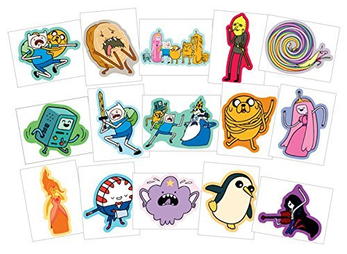 Adventure Time Stickers - Series 2 - Complete Set of 15 Large Stickers (Includes Jake, Finn, Princess Bubblegum, Ice King, BMO, Marceline, Lady Rainicorn and more..) ()
