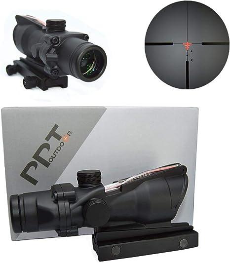 4X32 Red Fiber Optic Illuminated Red Dot Crosshair Rifle Scope For Rifle