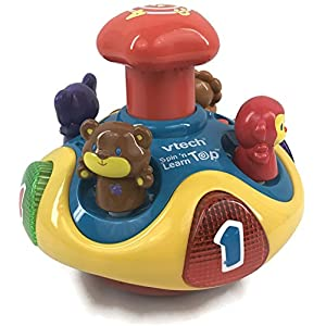 Vtech Electronics Vtech Spin 'N Learn Top Interactive Battery Operated Sound Learning Toy#6084