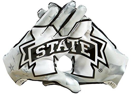 NCAA Mississippi State Bulldogs Adizero 5-Star 6.0 Football Gloves, Black, Small – DiZiSports Store