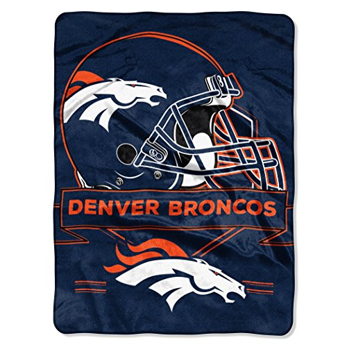 Broncos OFFICIAL National Football League, Prestige 60x 80 Raschel Throw by Northwest Official