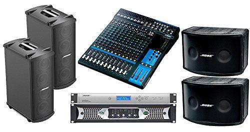 Bose Panaray 802 Series IV Portable Sound System with 2 Bose MB4 Bass Loudspeakers, Yamaha MG16 Mixer and Ashly Power (Bose Amps)