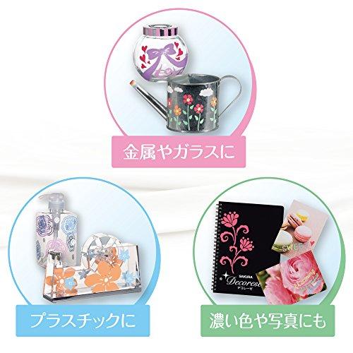 Sakura Ballpoint Pen for Decoration, Decorese Pastel 5 Color Set B, Floral Color (DB206P5B) Photo #3