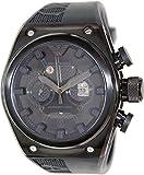 Emporio Armani Men's Super Meccanico AR4903 Black Rubber Automatic Watch with Black Dial