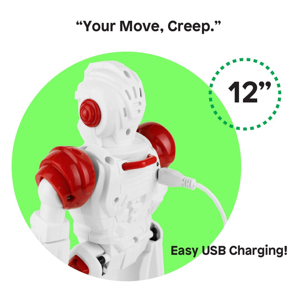 Boley Bot Strong Remote Controlled Robot Toy Gesture Control - Dancing, Singing, Walking Talking Robot Friend Kids - Red by Boley (Image #3)