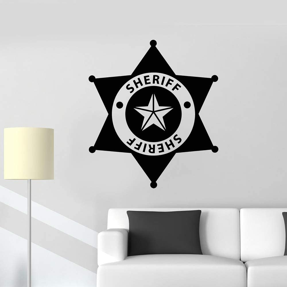 yuandp Vinilo Tatuajes de Pared Sheriff Insignia Policía Niños ...