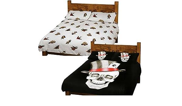 Diseño gótico de calavera de Ace of y marinero Jerry del fondo ...