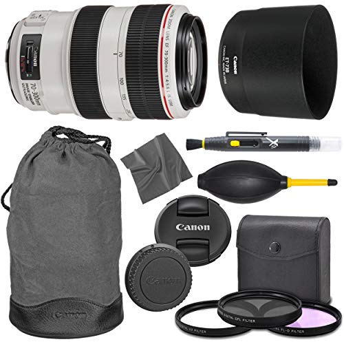 Canon EF 70-300mm f/4-5.6L I.S. USM Lens (L) Series + AOM Pro Starter Bundle Combo Kit - International Version (1 Year AOM Warranty)