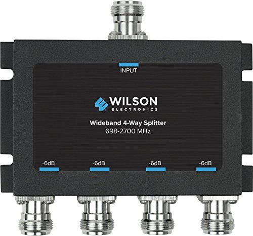 Wilson Electronics -6 dB 4-Way Splitter, N-Female (50 Ohm) 4 Way Satellite Radio Splitter